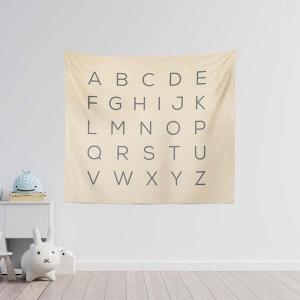 TepeHome - Alphabet Duvar Örtüsü