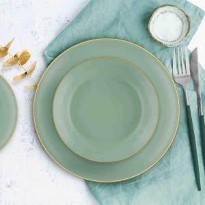 TepeHome - Basic Yemek Tabağı 6 Lı Set Yeşil - 20cm