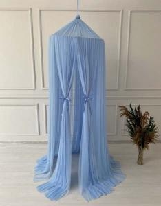 TepeHome - Bebe Mavi Tül Cibinlik
