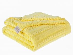 TepeHome - Bet.Home Örgü Koltk Şalı 130X170 Cm Sarı