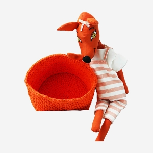 TepeHome - Big Orange El Örgüsü Sepet