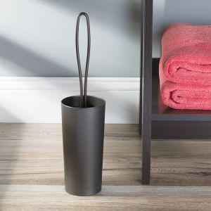 TepeHome - Bronz Kahve Tuvalet Fırçası 10x10x40cm