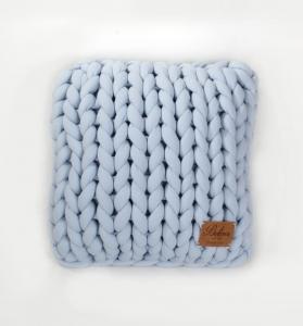 TepeHome - Chunky El Örgü Yastık Mavi