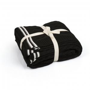 TepeHome - Çift Kişilk Ca17001 Siyah Örgü Battaniye