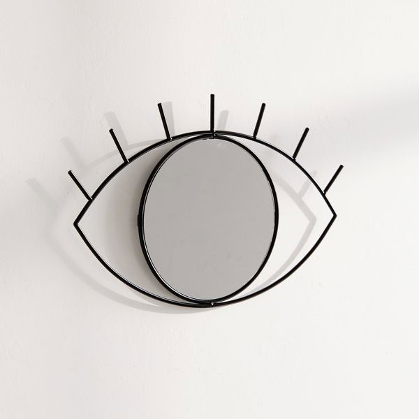 TepeHome - Cyclops Dekoratif Duvar Aynası Siyah