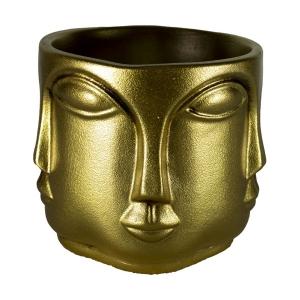 TepeHome - Dekoratif Çok Yüzlü Vazo Altın