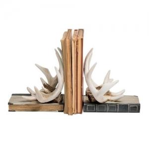 TepeHome - Dekoratif Kitap Desteği Geyik Boynuzu