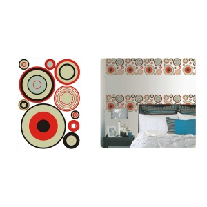 TepeHome - Duvar Sticker Halkalı Pvc 48x33x0,5cm