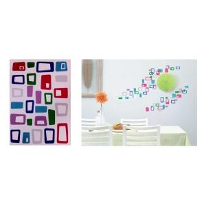 TepeHome - Duvar Sticker Kareli Pvc 48x33x0,5cm