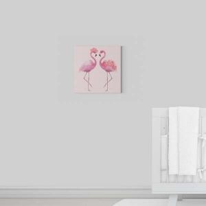 Flamingos Kanvas Tablo - Thumbnail