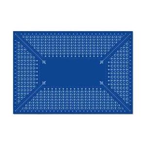 TepeHome - Floral Mavi-1 Amerikan Servis 6 Lı Set -