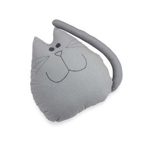 TepeHome - Gri Kedi Yastık