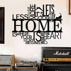 TepeHome - Home Duvar Yazısı Metal Tablo