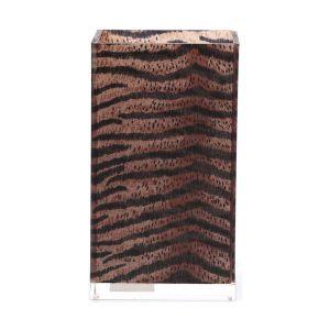 Kalemlik Çizgili Leopar6x6x12cm 300ml - Thumbnail