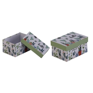 TepeHome - Kapaklı Saklama Kutusu 12x9x6cm 650ml