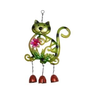 TepeHome - Kedi Şekilli Rüzgar Çanı 30x20x0,5cm