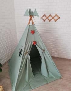 TepeHome - Koyu Mint Oyun Çadırı