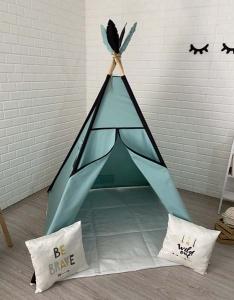 TepeHome - Mint Siyah Oyun Çadırı