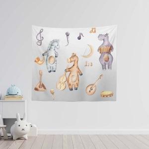 TepeHome - Musician Animals Duvar Örtüsü