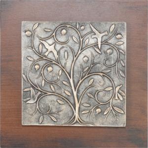 Pano Hayat Ağacı Antik Gold - Thumbnail