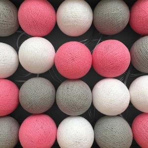 TepeHome - Pink Grey Işıklı Top Aydınlatma