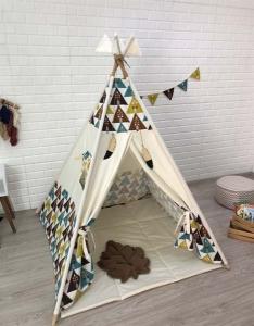 TepeHome - Renkli Üçgenler Oyun Çadırı