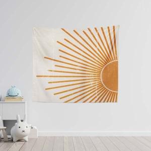 TepeHome - Retro Orange Duvar Örtüsü