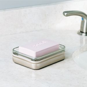 TepeHome - Sabunluk Gümüş Cam Model 11x9x3cm
