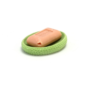 TepeHome - Sabunluk Yeşil Petek Desenli 10x8x2cm