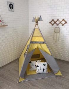 TepeHome - Sarı Gri Oyun Çadırı