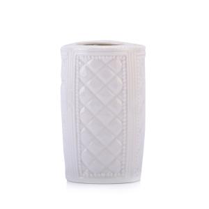 Seramik Diş Fırçalık Baklava 6x6x11cm - Thumbnail