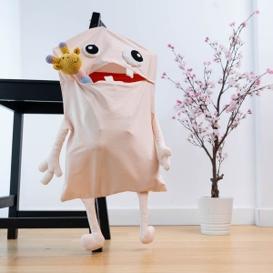 TepeHome - Soft Pink Monster Sepet