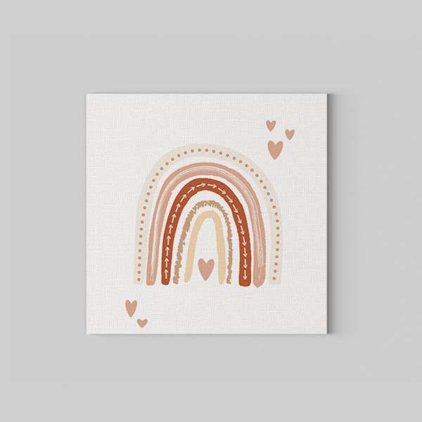 Soft Rainbow Kanvas Tablo