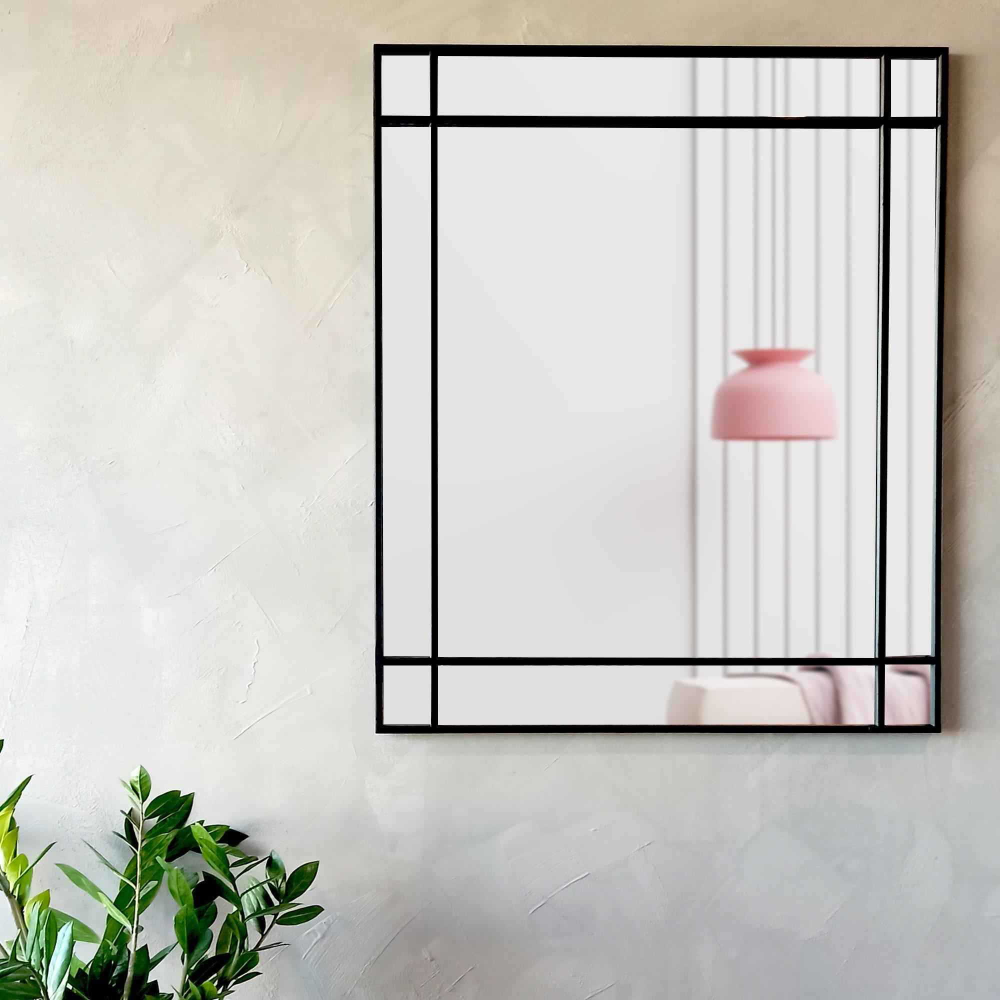 TepeHome - Tapasta Dekoratif Duvar Aynası Siyah