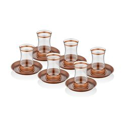 TepeHome - UNİQUE ÇAY ST 12 PRÇ COPPER