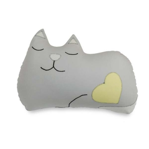 TepeHome - Uyuyan Gri Kedi Yastık