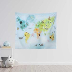 TepeHome - World Map Duvar Örtüsü