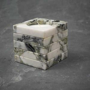 TepeHome - Ice Green Mermer Küp Mum