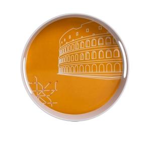 Yuvarlak Tepsi Roma Desen 30x30x5cm - Thumbnail